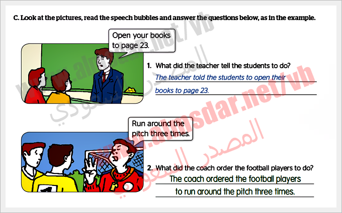 Module (4b) Reported Speech page